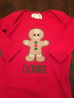 Gingerbread gown monogrammed