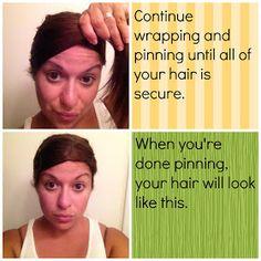 The Messy Vanity: How To: Dooby, Dooby, Doo! (Heatless Hair Straightening)  The best way to straighten hair.