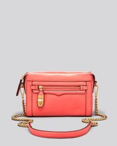REBECCA MINKOFF Mini Crosby With Gold Hardware. #rebeccaminkoff #bags #shoulder bags #leather #crossbody #
