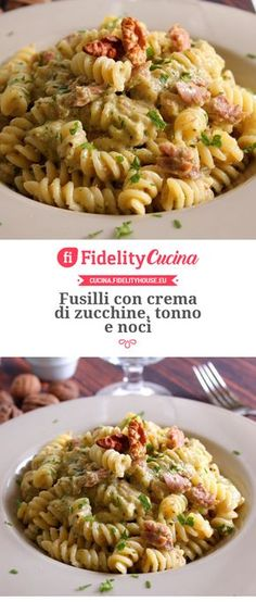 Discover recipes, home ideas, style inspiration and other ideas to try. Fusilli, Healthy Carbs, Healthy Cooking, Healthy Recipes, Zucchini, Light Recipes, Food Dishes, Italian Recipes, Food Porn