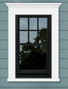 25 Astonishing Eksterior & Interior Window Trim Ideas for Your Dreamed House! - Home Decor Ideas Exterior Window Molding, Interior Window Trim, Exterior Trim, Exterior House Colors, Exterior Design, Window Molding Trim, Black Trim Exterior House, Black Trim Interior, Black Windows Exterior