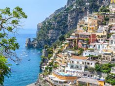 """european charm: """"The Most Beautiful Places in Italy•• by Conde Nast Traveler • depicted: Le Sirenuse hotel, Positano, Amalfi Coast"""
