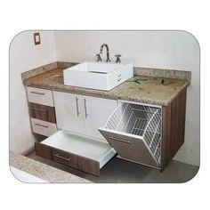 Modern Bathroom Cabinets, Bathroom Vanity Designs, Bathroom Design Luxury, Bathroom Design Small, Laundry In Bathroom, Bathroom Layout, Bathroom Furniture, Kitchen Room Design, Home Room Design