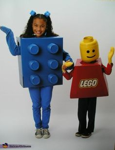 Lego Boy Costume. Big box & deli containers for the brick, box, giant snack container, yellow duct tape and mittens from yellow fleece for the boy. Also used speaker fabric for the eye and mouth openings so he can see out but you can't see in.