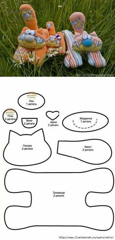 Sewing Toys, Sewing Crafts, Sewing Projects, Plush Pattern, Cat Pattern, Cat Crafts, Animal Crafts, Fabric Toys, Fabric Crafts