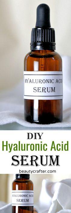 DIY Masque : Description DIY Hyaluronic Acid Serum recipe – make your own anti-aging serum via Anti Aging Serum, Anti Aging Skin Care, Natural Skin Care, Au Natural, Natural Beauty, Face Serum Diy, Facial Serum, Facial Care, Diy Vitamin C Serum