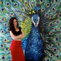 Peacock Watercolor Paintings for Beginners Easy African Art Paintings, Paintings Famous, Paintings I Love, Animal Paintings, Peacock Painting, Peacock Art, Large Painting, Watercolor Paintings For Beginners, Watercolor Art