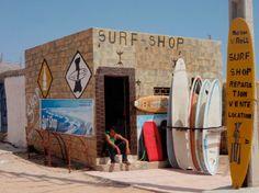 Moroccan surf shop