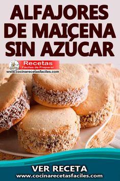 Diabetic Cake, Diabetic Recipes, Flour Recipes, Cooking Recipes, Deli Food, Profiteroles, Pan Dulce, Sin Gluten, Sugar Cookies