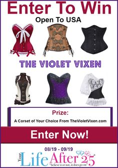 Enter To Win @YourLifeAfter25's @theofficialvv Corset #Giveaway! #ad >