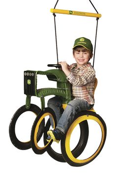 Find M&M Sales Enterprises John Deere Tractor Tire Swing in the Swings category at Tractor Supply Co.The John Deere Tractor Tire Swing is a trac Kids Backyard Playground, Backyard For Kids, Playground Ideas, Playground Design, John Deere Toys, John Deere Tractors, Tire Craft, Swing Set Accessories, Tractor Tire