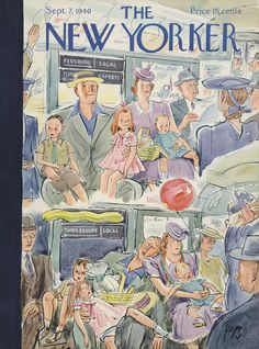 The New Yorker - Saturday, September 7, 1940 - Issue # 812 - Vol. 16 - N° 30 - Cover by : Perry Barlow