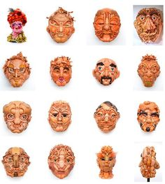 "FTA: ""Australian artist Freya Jobbins makes fantastic face sculptures from pre-loved children's plastic toys, mainly dolls. She says her assemblages are a statement on society's overspending on toys and they explore 'the relationship between consumerist fetishism and the emerging recycling culture within the visual arts.'"" Cool upcycling or creepy as hell?"