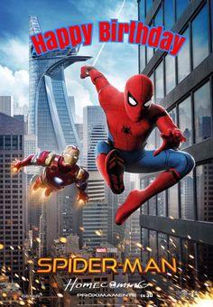 Free Spiderman Birthday Ecards