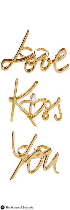 ~Say it with Lanvin's 2014 Two-Finger Gold Romance Ring (One Size) | House of Beccaria#