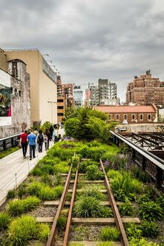 Cloudy Day Over The High Line, New York