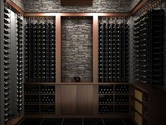 Looking out for custom wine racking systems? Canada based Cable Wine Systems provides wire wine display racks accommodating different bottle shapes and sizes, with excellent label visibility. Wine Cellar Racks, Wine Rack Wall, Wine Wall, Tasting Room, Wine Tasting, Caves, Cave A Vin Design, Home Wine Cellars, Wine Cellar Design