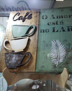 Arte Pallet, Biscuit, Decoupage, Stencils, Patio, Mugs, Country, Tableware, Ideas