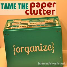 Paper organization can be an overwhelming issue. So today, we're going to tackle the paper clutter of our Personal Reference Files with a simple strategy that is sure to get them fabulously organiz. Organization Station, Clutter Organization, Paper Organization, Office Organization, Organization Skills, Organizing Paperwork, Organizing Your Home, Organizing Tips, Organising