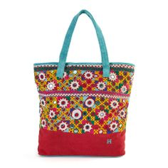 Red Embroidered Tote - India