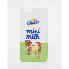 ASOS Walls Mini Milk iPhone 6 Case ($15) ❤ liked on Polyvore featuring accessories, tech accessories, multi and asos