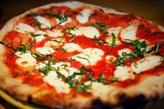 Pizza Margherita at Basta Trattoria