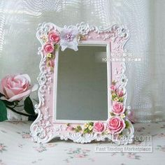Image detail for -Wholesale Shabby Chic Rose Princess Victorian Makeup Mirror Stand ...