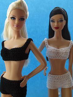 Retro Bikini for Barbie Basics pattern by Betty Watson