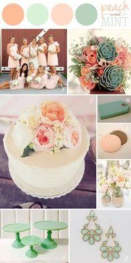 Peach + Mint: Wedding Color Palette
