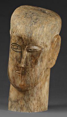 Ossip Zadkine - Tete d'homme - 1924 Former collection Helena Rubinstein (1870-1965).