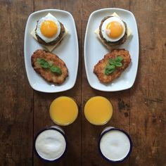 Symmetry breakfast by Michael Zee: the perfect symmetrical breakfast for two l #photography #Instagram #SymmetryBreakfast