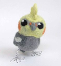 Needlefelted Bird Punky Cockatiel Real Bird Needlefelted Tweet. ££18.00 GBP, via Etsy.