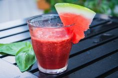 Strawberry-Lime Watermelon Smoothie