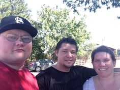 Me, my brother-in-law Justin Shannon and my wife, Leah.