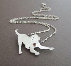 Sterling Silver Labrador Retriever Necklace Dog by WiggleandWag