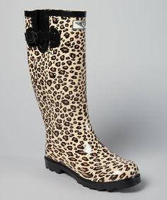 Leopard Rain Boots....could have really used these this past week!