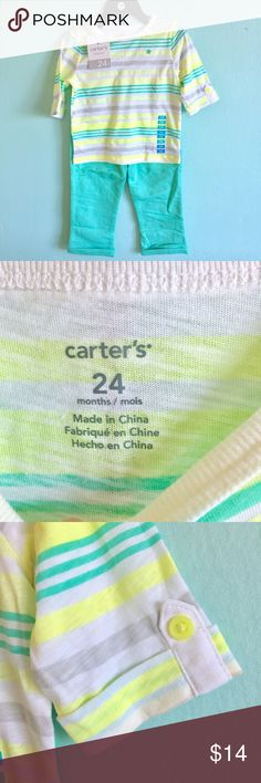 Carters Girls Pants and Top Outfit NWT, Perfect for Spring and Summer. Size 24 months. Check out my closet, bundle and give me your offer! Carter's Matching Sets