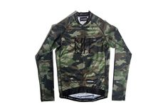A race cut long sleeve cycling jersey with ultra light mesh side panels featuring a woodland camouflage print pattern designed by God & Famous. Cycling Bib Shorts, Cycling Jerseys, Camo Pictures, Jumper Shirt, Woodland Camo, Military Jacket, Long Sleeve, Sleeves, God