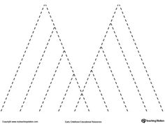 **FREE** Line Tracing: Mountains Worksheet. Tracing lines reinforces fine motor skills in your child and prepares them for writing. Preschool Letter M, Preschool Curriculum, Free Preschool, Preschool Themes, Preschool Worksheets, Kindergarten Art, Line Tracing Worksheets, Writing Worksheets, Tracing Lines