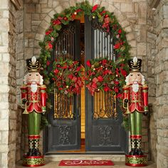 Giant LifeSize PAIR of 6 Resin Nutcracker Christmas Holiday Toy Soldiers >>> You can get more details by clicking on the image. Front Door Christmas Decorations, Christmas Front Doors, Christmas Porch, Christmas Lights, Christmas Holidays, Holiday Decor, Merry Christmas, Outdoor Decorations, Holiday Lights