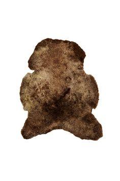 Lammskinn, korthårigt, brunt