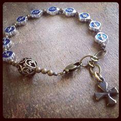 MIRACULOUS MARY MEDAL Chaplet Bracelet by rosarium on Etsy