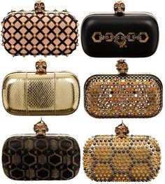Alexander McQueen Clutch ~~~ ✿RePin from Golden Shadow✿