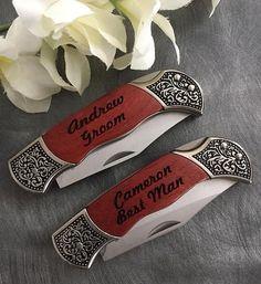 HUGE SALE 8 Engraved Pocket Knives / by HangerDesignCenter