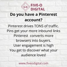 Did you know Pinterest is responsible for about 90% of all social media shares in the internet - this can create massive website traffic! Five-O Digital can help you with your Pinterest Marketing, click here www.fiveodigital.com #digital marketing # digital marketing strategy #digital marketing design #digital marketing agency #digital marketing infographics #digital marketing quotes #digital media #marketing ideas #marketing strategy #marketing strategy social media Marketing Quotes, Marketing Ideas, Media Marketing, Digital Marketing Strategy, Digital Media, Pinterest Marketing, Infographics, Did You Know, No Response