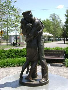 The Homecoming -- its a statue in the memorial park next to the naval museum that celebrates the coming home of our men and women fighting on foreign soil/waters.