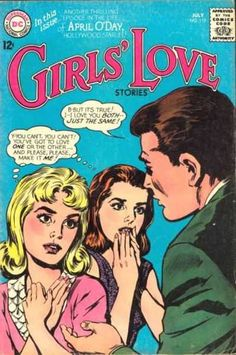 A cover gallery for the comic book Girls' Love Stories Vintage Pop Art, Vintage Romance, Old Comics, Vintage Comics, Comic Book Covers, Comic Books, Transgender Comic, Planet Comics, Comic Book Girl
