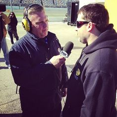 Daytona 500 pole-winning car owner, #TonyStewart, interviewed by NASCAR on FOX