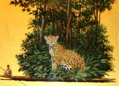 Pedro Ruiz - Tigre Mariposa, 2009 (Colombia) Museum Of Modern Art, Art Museum, Colombian Art, Hispanic American, National School, Buddhism, Amazing Art, Gallery, Illustration