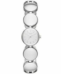 DKNY Watch, Women's Silver-Tone Round Link Bracelet 20mm NY8866